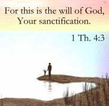 Image result for Picture of sanctification Bible