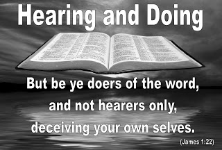 Image result for picture be a doer of the word bible