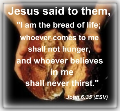 Image result for picture I am the bread of life bible