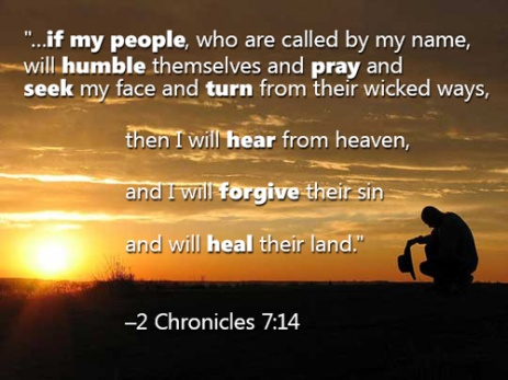 Image result for picture 2 Chronicles 7:14 Bible