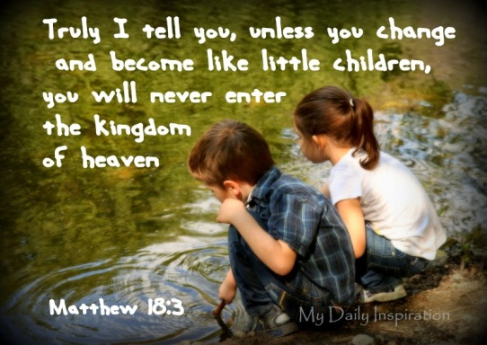 Image result for picture Matthew 18:3-4 Bible