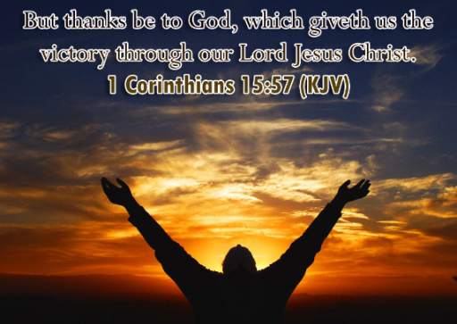 "MY TREASURE BOX"" : BIBLE QUOTES: 1 CORINTHIANS 15:57"