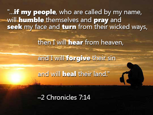 2 Chronicles 7:14-The Conditions Upon Which Our Land Can Be Healed — Tell  the Lord Thank You