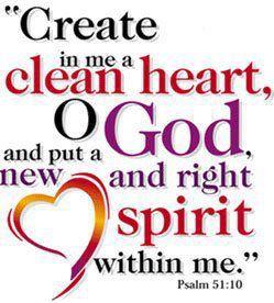 Craftilady - A Work of Heart: Psalm 51:10-17