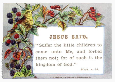 All Victorian Ephemera: Bible Verse: Mark 10:14