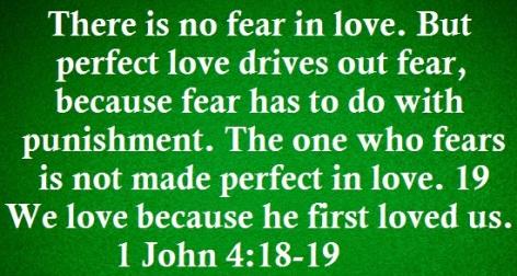 Daily Verses: 1 John 4:18-19: