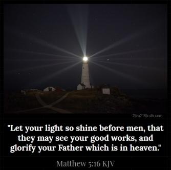 2 Timothy 2:15 Truth: Verse of the Day: Matthew 5:16 KJV